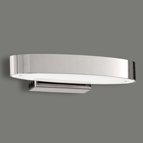 Ovale LED-Bad-Wandleuchte ASTOR in chrom